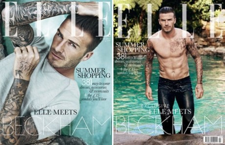 Beckham first man to grace Elle magazine cover