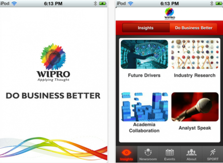 Wipro launches iPhone app