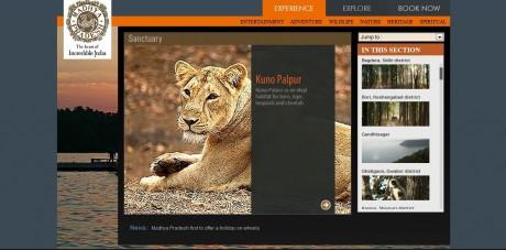 MP Tourism Website