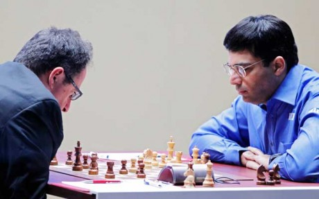 Anand-Gelfand first game ends in a draw