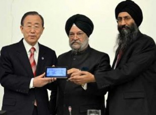 Aakash 2 Tablet Unveiled at UN Headquarters