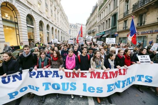 Anti-gay Marriage Protests in Paris