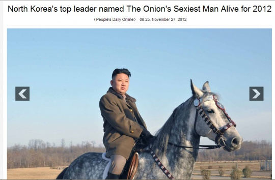 People's Daily falls for The Onion's Joke