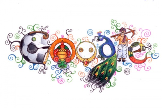 'Doodle 4 Google India 2012' Winner on Google Homepage