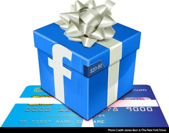 Facebook Gifts Urges Users to Shop While They Share