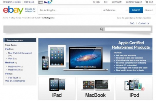 Has Apple launched 'own eBay store'?