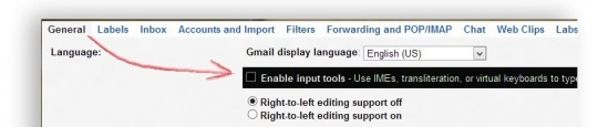 How to Type a Mail in Different Language on Gmail