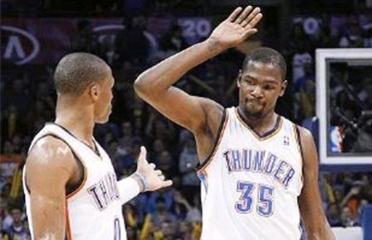 Durant helps lift Thunder over Clippers