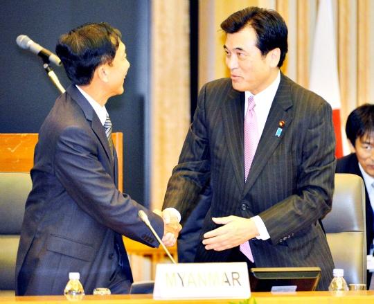 Myanmar finance minister Win Shein