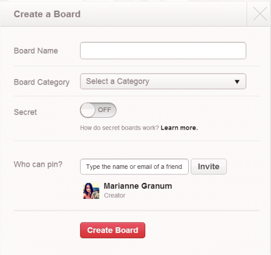 Pinterest Introducing 'Secret Boards'