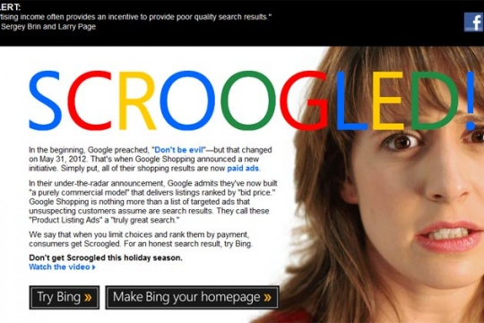 Google a Bad Place for Shopping: Microsoft