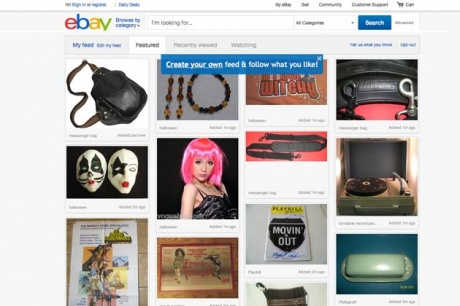 ebay Launches Redesigned Website, Apes Pinterest
