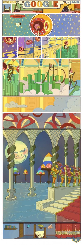 Google Doodles Winsor McKay's Little Nemo in Slumberland