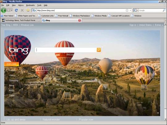 'Slide' for News on Microsoft Bing