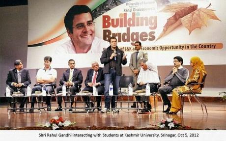 Rahul Gandhi at Kashmir University