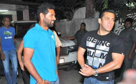Prabhu Deva and Salman Khan