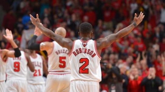 Bulls Rally to Rip Nets