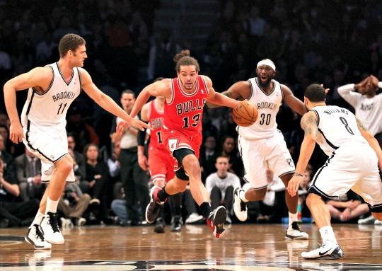 Bulls Beat Nets to Level Playoff Series