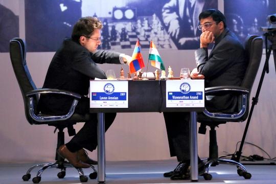 Levon Aronian and Viswanathan Anand