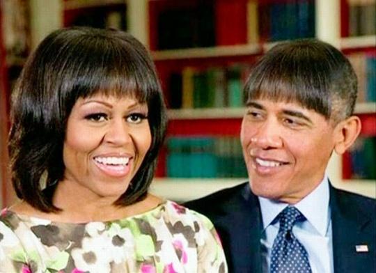 Barack Obama Michelle Obama haircut