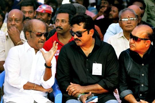 Rajinikanth Joins Hunger Strike for Sri Lankan Tamils