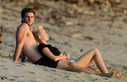 Actor Liam Hemsworth and singer Miley Cyrus
