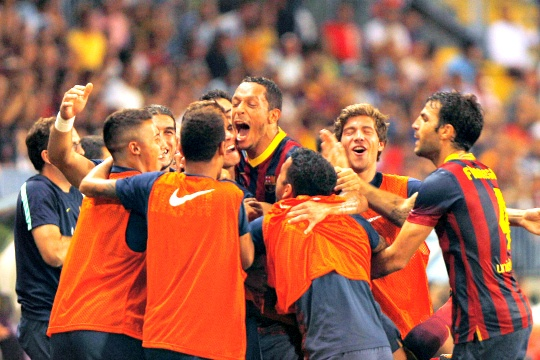 Messi-Less Barca Still Too Much for Malaga
