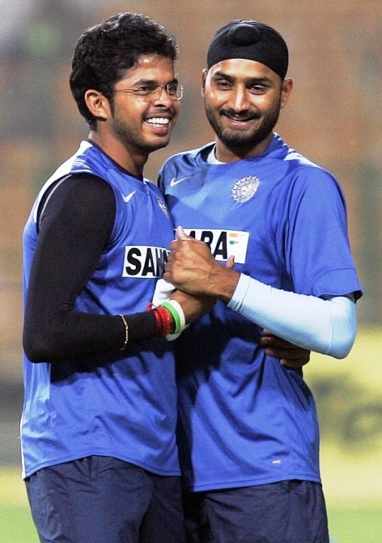 Harbhajan Singh and Sreesanth