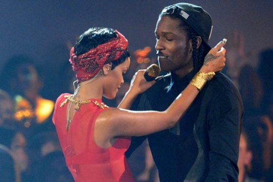 RiRi Locks Lips With A$AP Rocky
