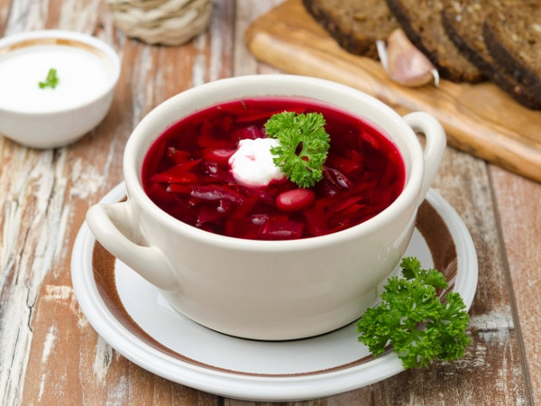 Hot Borscht (Russian Soup Recipe)