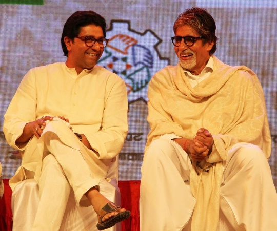 Amitabh Bachchan and Raj Thackeray