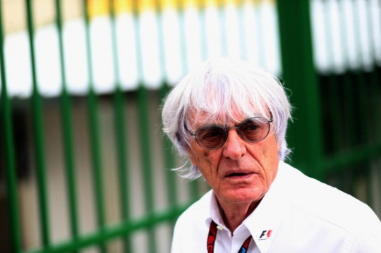 Bernie Ecclestone has waded into the debate suggesting the controversial measure should be extended to the final three races to keep the championship race alive longer. (Getty Images)