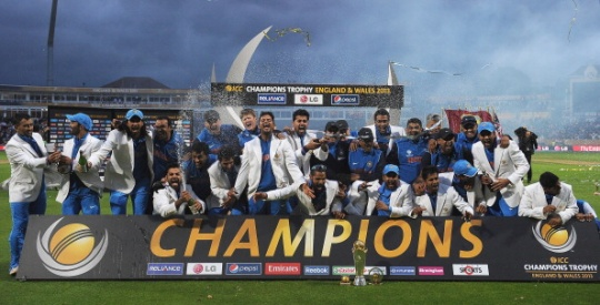 India beat England by five runs in the final of the Champions Trophy. (Getty Images)