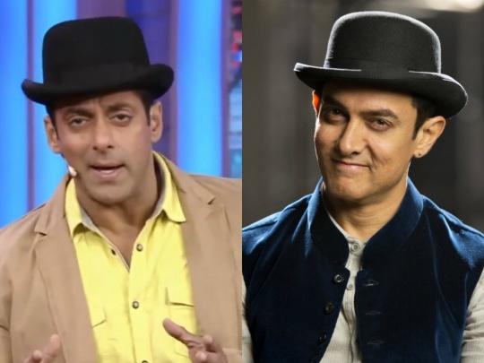 Salman Khan and Aamir Khan wear the same bowler hat!