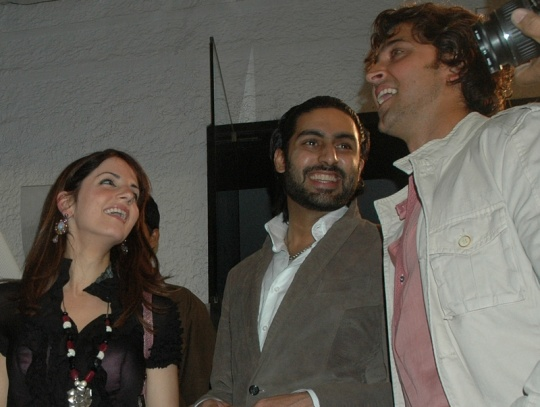 Abhishek Bachchan with Hrithik and Sussanne Roshan