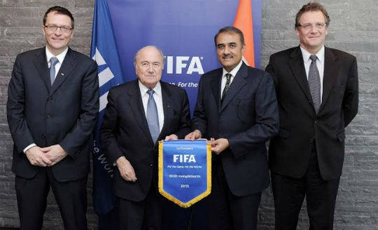 Sepp Blatter and Praful Patel