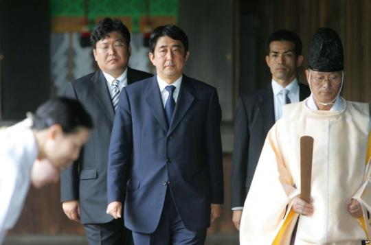Japan PM Visits Controversial War Shrine