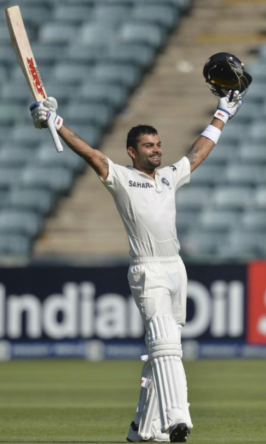 Virat Kohli scored 119 on the opening day of the 1st Test against South Africa at the Wanderers. (Photo: Reuters)