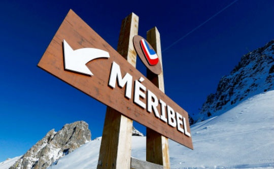 The sign with the name of Meribel region is seen in the mountains on December 30, 2013. German former Formula One champion Michael Schumacher was battling for his life in hospital on Monday after a ski injury, doctors said, adding it was too early to say whether he would pull through. Schumacher was admitted to hospital on Sunday suffering head injuries in an off-piste skiing accident in the French Alps resort of Meribel.(Reuters)