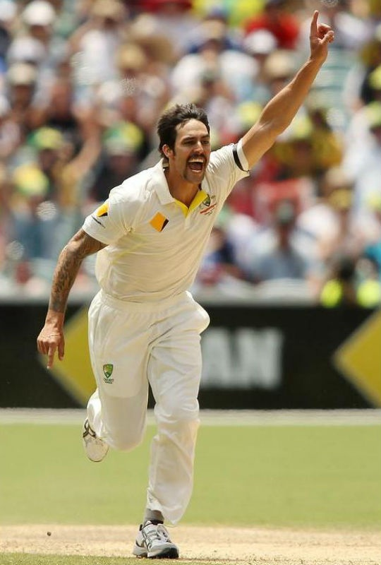 Mitchell Johnson picked up 7/40 against England at the Adelaide Oval. (Photo: Getty Images)