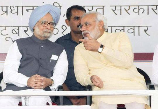 Prime Minister Manmohan Singh, Narendra Modi