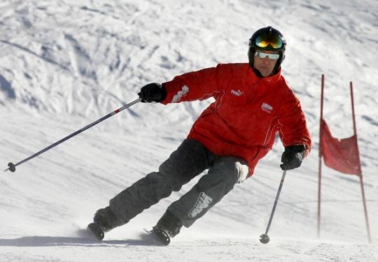Michael Schumacher skiing. (File Photo: AFP)