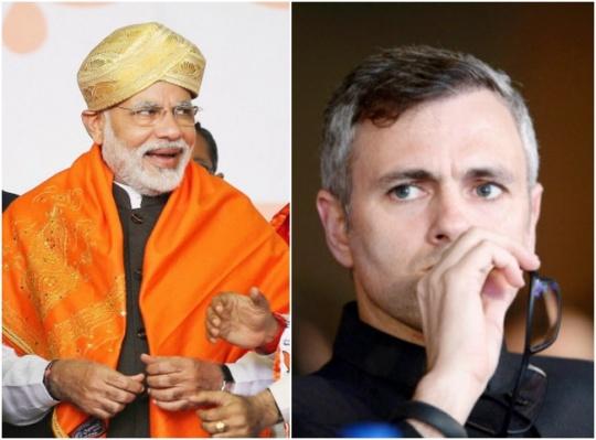 Omar Abdullah and Narendra Modi