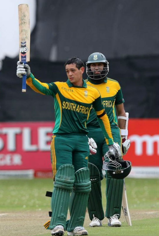 Quinton de Kock scored his second consecutive century against India in the 2nd ODI. (Photo: Getty Images)