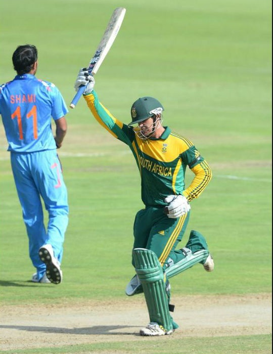 Quinton de Kock scored his third consecutive ton against India and became the 5th batsman to do so in ODIs. (Photo: Getty Images)