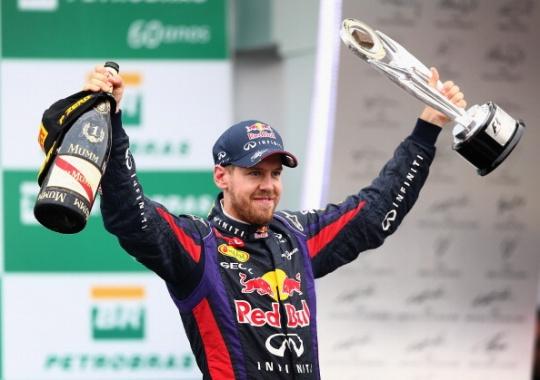 Sebastian Vettel won nine races on the trot in 2013. (Getty Images)