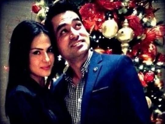 Veena Malik and Asad Bashir Khan Khattak