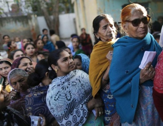 Voting in Delhi
