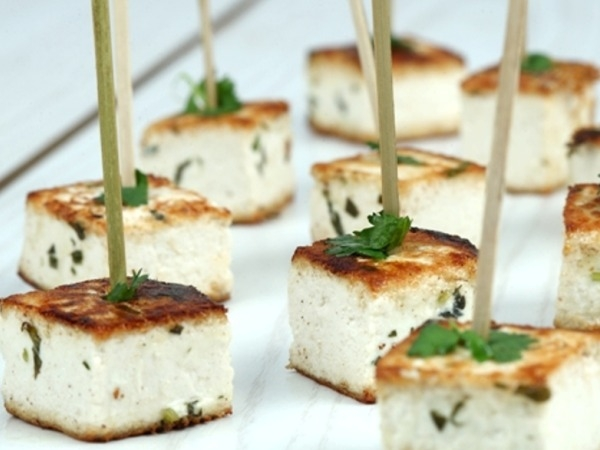 Healthy Recipe: Grilled Tofu Skewers Marinated With Basil