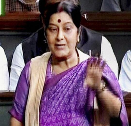 Sushma Swaraj Blasts Government for Intelligence Failure